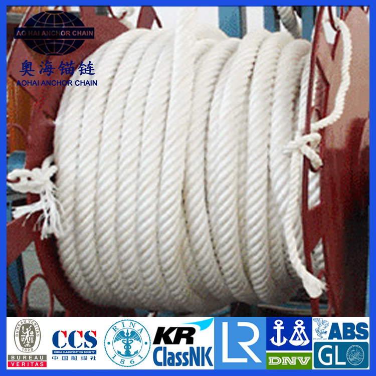 braided polyamide mooring rope