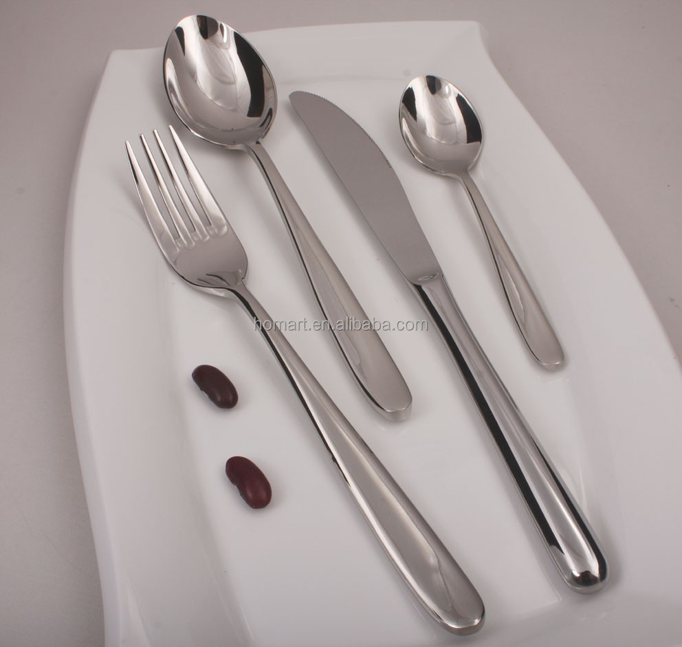 High grade hotel stainless steel cutlery metal spork flatware