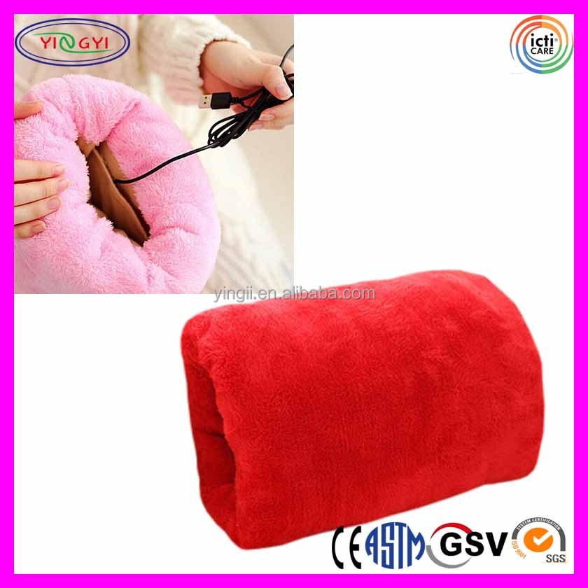 E278 USB Hand Warmer Pillow Pocket Waterless Warm Hand Tools Electric Heated Hand Pillow