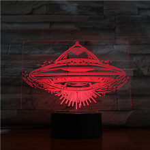 UFO 3d illusion led lamp with touch switch LED night light for home decor