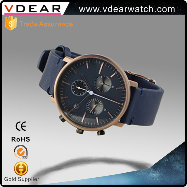 Time force chronograph 5atm water resistant Most popular simple design sport men watch rose gold watch for lady