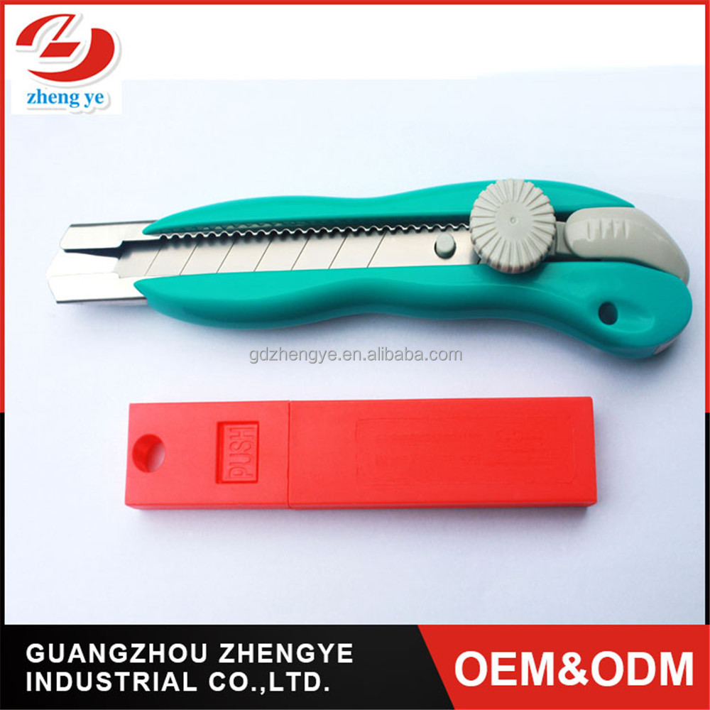 hot sell 18mm Colorful Plastic Snap Off Cutter Knife Ratchet lock camping utility knife pocket knife for wholesales