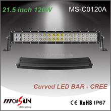 9600LM hot-sale 120W curved LED lighting bar 21.5 inch for jeep, 4wd, rav4, f ord led work light