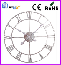 Wrought iron Metal Wall Time Clock