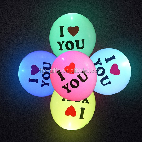 cheap latex led balloon decoration party event wedding led balloon
