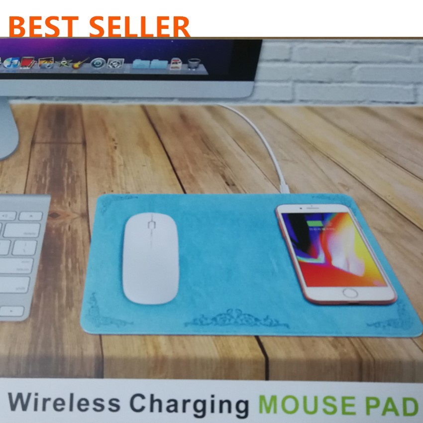 2018 New Products Fast Protabale Qi Wireless Charger Battery Plate Mouse Pad Car Solar Mobile Phones For Samsung Iphone 8 X