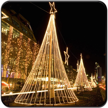 IP65 outdoor string light metal frame christmas tree