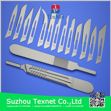 China manufacturer disposable surgical blade/scalpel, sharp point surgical blades