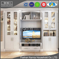 European style space saving home furniture modern corner tv cabinet and shoe cabinet of solid wood frame