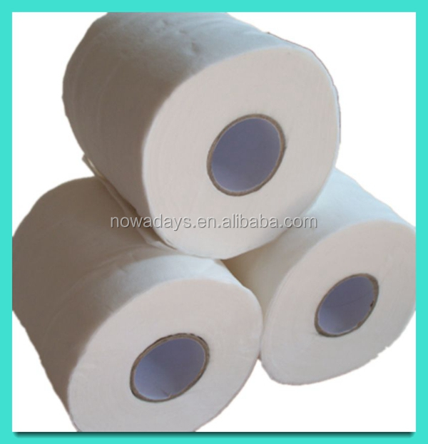 China hot selling 100% virgin wood pulp standard toilet paper roll 2ply