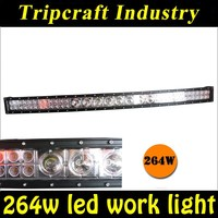 Newest IP67 mixed row auto led off road 50 inch 264w curved led driving light bars