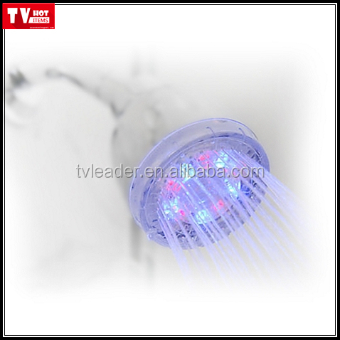 Amazing LED Color Changing Shower head Wall-mount LED Beads Light Like Disco, Add Fun to Shower
