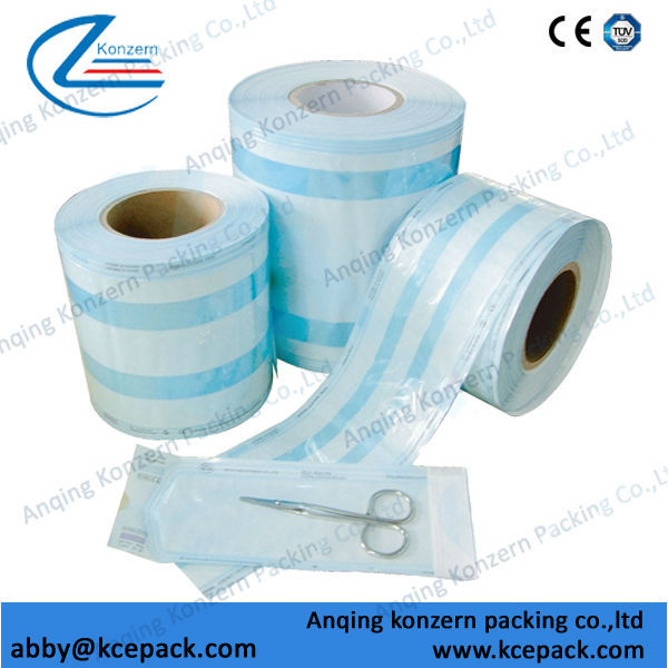 Medical Sterilization Gusseted Reel Pouch for Medical Equipment Instruments Steam/Auto Clave EO Sterilization
