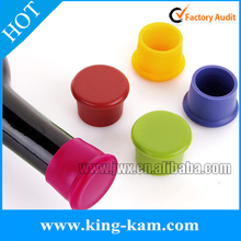 Assorted Colors Silicone Reusable Wine Bottle Cap/Beer Sealer Cover
