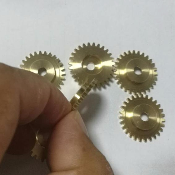 CNC and Ground machining M0.4 <strong>Z10</strong> Z8 Z7 micro small spur brass/copper/bronze gears for microscope