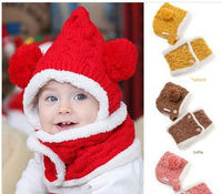 D61412W WINTER THICK BABY'S HATS AND SCARF SETS