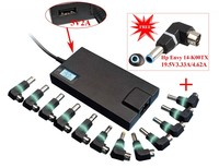 13 tips Automatic Slim universal laptop adapter 100W for car use and home use 2-in-1