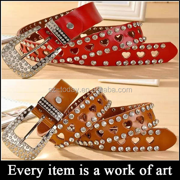 (sz-belt 35 )benevolence cowhide rhinestones for leather belts, ladies rhinestone dressy belt