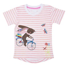 Hot sale fancy design 100% cotton baby girl T-shirt