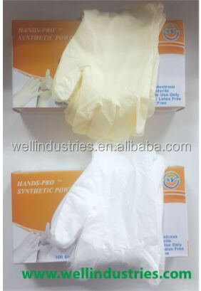 Latex free synthetic vinyl disposable glove