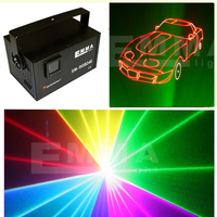 Cheap 2500mw RGBP with Four Tunnel/4 heads/4 lens Laser beam Light Red Green Blue Purple Disco Lighting, Club Light DMX