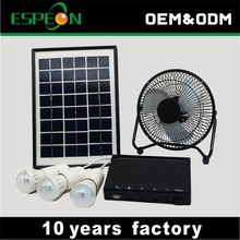 portable 6w 12v panel solar light system kit dc