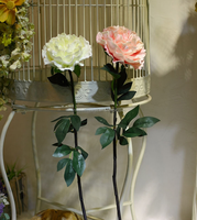 Alibaba website home decor artificial real touch PU flowers peony/ white/pale pink peony