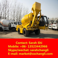 3CBM Mobile Concrete Mixers with Self Loading from China