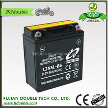 rechargeable lead acid battery 12V 5ah, starting 12N5L-BS 5ah 12v battery, motorcycle parts