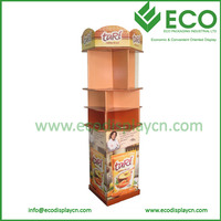 Custom Corrugated Cardboard Floor Displays Cabinet for Advertising Chocolate
