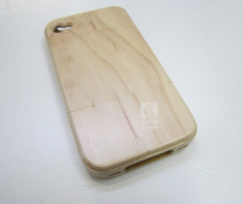 Hot new products Genuine wood dustproof stopper phone case for iphone 4,dustproof wood case