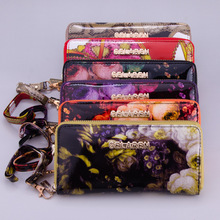 2014 New model colorfull pu leather ladies purse wallet women