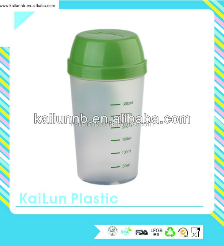 Convenient promotional plastic 300ml water bottle made in BPA free foodgrade PP