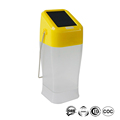 Typhoon Nida waterproof rechargeable solar outdoor lantern with 2 brightness