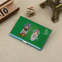 wholesale custom logo cheaper china style peking opera masks stainless steel epoxy name card holder