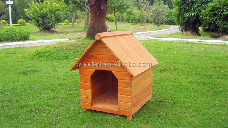 Apex roof simple design cheap wood kennel house for sale