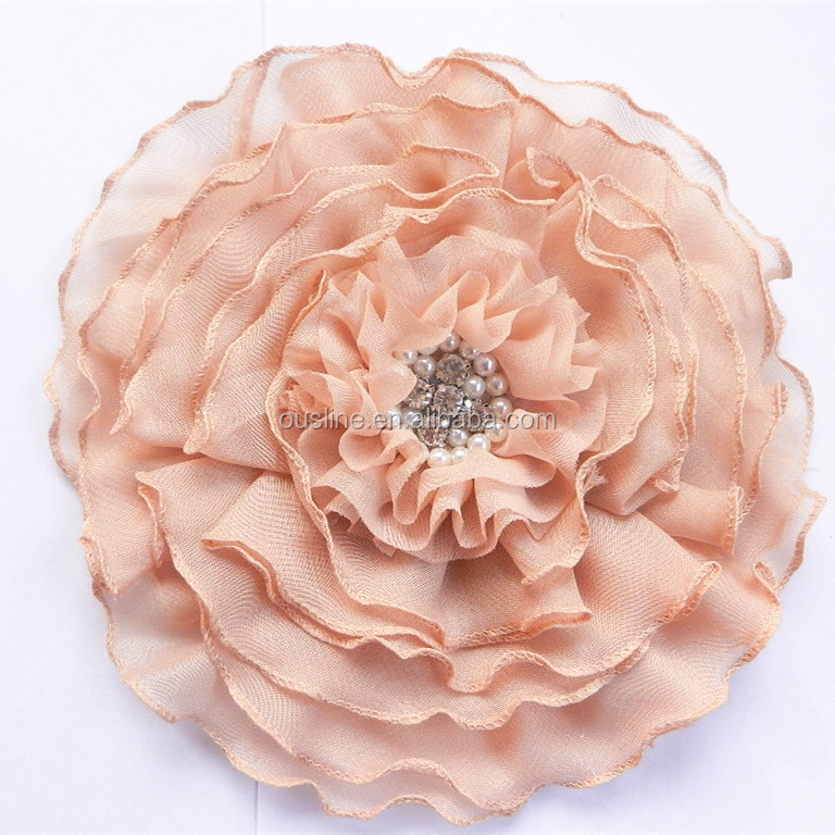 generous large fabric flower corsage for ladies clothing