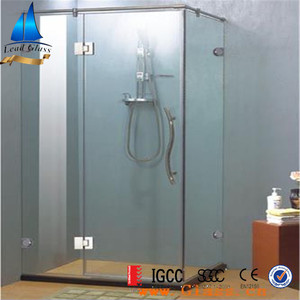 Hot Sale 8mm 10mm Tempered Frosted Shower Room Hinge Glass / Shower Door Glass