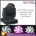 7500K 5 Degree Beam Angle Dmx512 18 Channels Control Sharpy 330W Moving Head Light Beam 15R