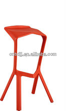 Elegant modern solid antique styled salon high heel shoe bar stool club plastic colored bar chair