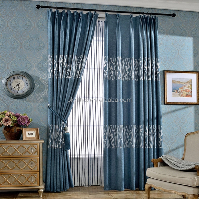 luxury ready made thermal blackout curtains non-toxic curtains