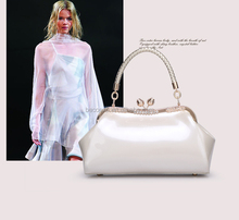Fashion clear tote bags, pu leather bag, single shoulder bag