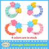 Wholesale silicone baby teething toys with rattles