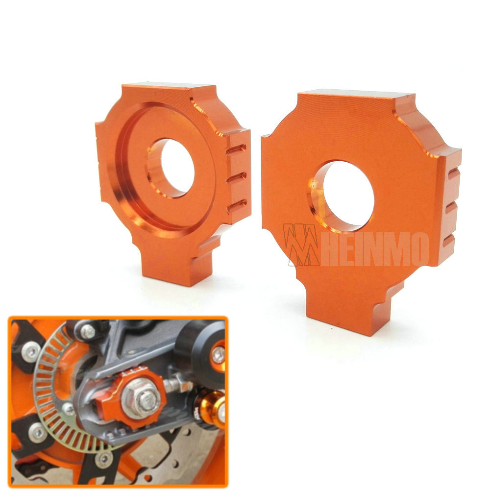 Motorcycle CNC Rear Axle Spindle Chain Adjuster Blocks for KTM DUKE 125/200/390