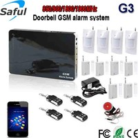 Saful android & ios app support 2g|3g|4g SIM card wireless digital home security alarm system,4g gsm intelligent alarm system