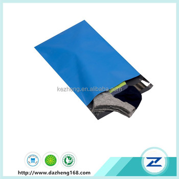 Blue Poly Mail Bag Plastic Shipping Bags With Self Sealing Strip