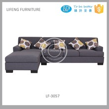 Quality controlled L shaped corner sofa price