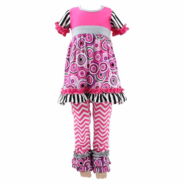Boutique 2016 new arrival cheap summer clothes for kids outfits western easter stripe ruffle short sleeves baby girl outfit