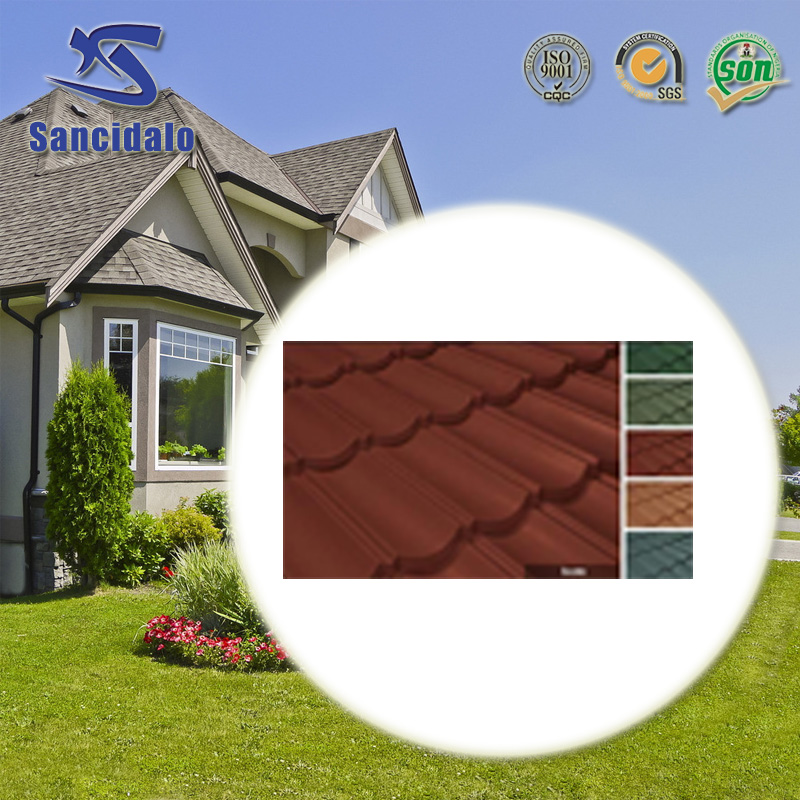 ISO quality management system Chinese manufacturer color stone coated metal roof tile