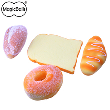 High Quality Supplier Squishy toast+donut+pumpkin+croissant PU foam toys bread scented hand squeeze gift